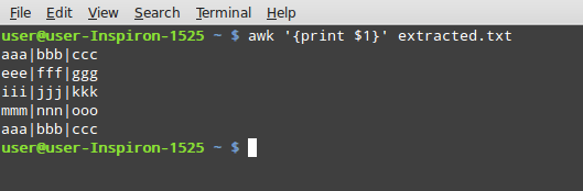 awk command